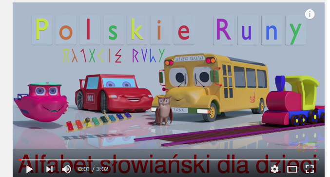 Polskie Runy Alfabet Słowiański Dla Dzieci Piosenka Zdjęte